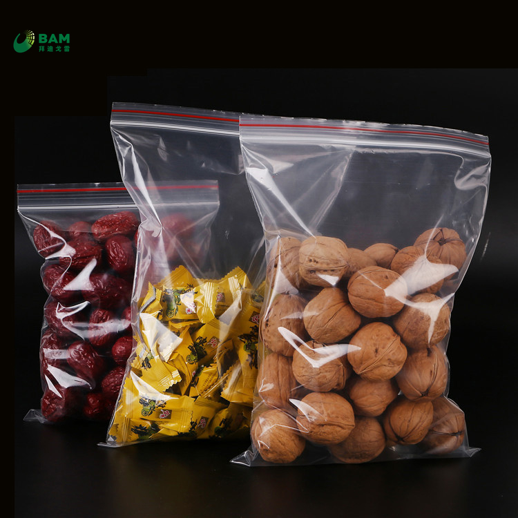 Sustainable Biodegradable Manufacturer Supplier Resealable Zip Lock Kraft Plastic Supermarket Food Packaging Bags for Cookies Sugar Peanut Tea