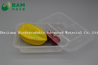 100% Biodegradable Disposable Compostable Corn Starch Customized Round Disposable Colorful Plastic Food Containers for Soup Salad